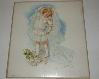Vintage KC Baking Powder Playing Bride Print Poster