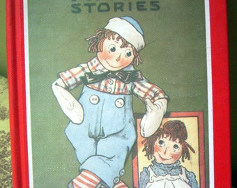 Raggedy Andy Stories, Johnny Gruelle, Hardback Hardcover, Vintage Book, Author of Raggedy Ann