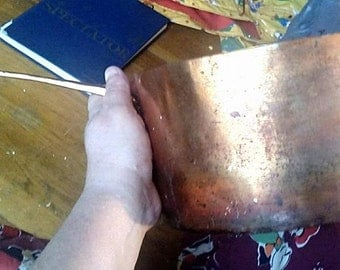 Antique Hand forged French? Copper Saucepan Pot