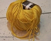 Gorgeous Bamboo Yarn, Naturally Stella, Golden Yellow, Super Soft, Made in Italy, Destash