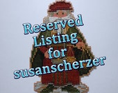 Reserved Listing for susanscherzer- Venice Santa Ornament