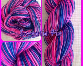 Hand Painted Yarn - Sweetie Pie™-  Fingering/Sock Hand Painted yarn 438 yds  RTS