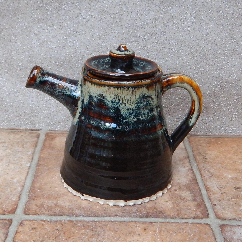 Teapot Hand Thrown Stoneware Pottery Tea Pot By Caractacuspots