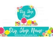 Etsy Shop Banners - Etsy Banners - Easter Etsy Banners - Bunny Etsy Banner - Easter 3-16 - 2 Piece Set