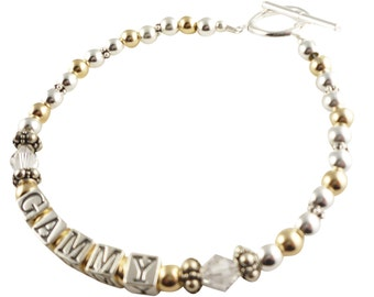 Gammy Bracelet - or any personalized name for Grandmother or Mom - or childrens/ child name - Mother in law or daughter bracelet
