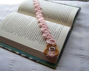For book lovers crochet bookmark with owl book mark is 13 inch long