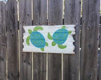 Beach Sign Turtle Nursery Decor Coastal and Nautical Home