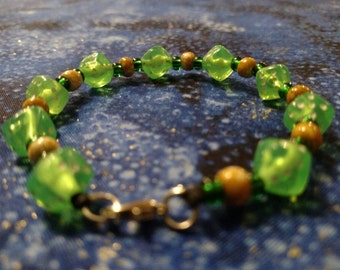 Green Dice Bracelet