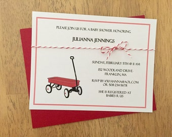 Wagon Invitation for Baby Shower or Birthday