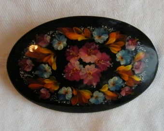 Russian Hand Painted Brooch