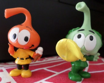 The Snorks Figure Collection, Dimmer and Tooter, Set of Two, Toys from the 1980's