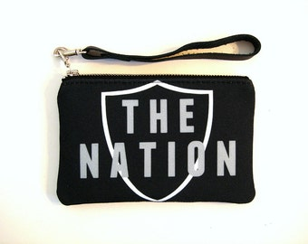 Oakland Football Stadium Wristlet NFL Regulation Bag Raiders