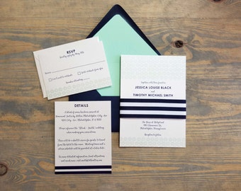 nautical wedding invitation wedding cruise invitation navy blue wedding invitations beach wedding invites