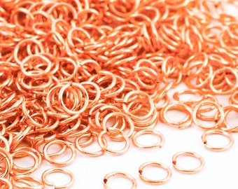 100 - 16 gauge Half Hard Copper Jump Rings - 6.7mm ID - 9mm OD - 1/4""