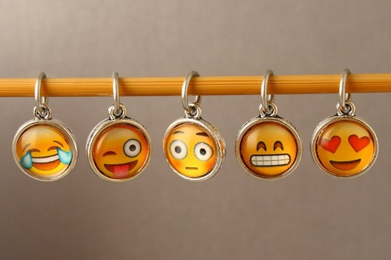 Emoji Knitting Needles : Emoji stitch markers for knitting