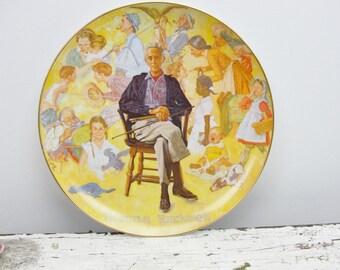 Vintage Norman Rockwell Museum souvenir plate 1979