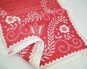 Red Linen Towel, Kitchen Towel, hand towel, tea towel