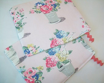 2 Cath Kidston handmade potholders, hot pads, with Tommy Hilfiger fabric