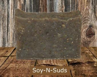 Soap, OATMEAL MILK & HONEY, Oatmeal Soap, Natural Soap, Vegan, Dye Free, Bar Soap, soyNsuds, Exfoliating, Hot Process Soap