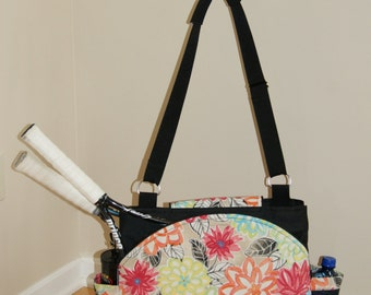 New Large big Sister Tennis bag with rounded pockets.-Made to Order!!