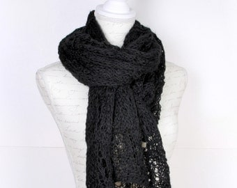 Shawl ,Black ,Perfect for winter, Extra Large