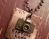 Capture Life Inspirational Necklace, Photography inspired