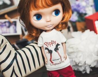 Blythe pippi long T-shirt - White