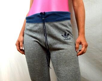 Vintage 80s Adidas Gray Super Soft Distressed Sweatpants