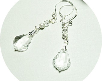 Crystal Earrings, Crystal Dangle Earrings, Bridal Earrings, Bridesmaid Jewelry, Bridal Accessories, Special Occasion Earrings, Austrian