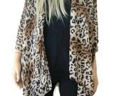 Leopard Kimono/ Kimono cardigan-animal print/leopard print Ruana  summer collection-Layering piece