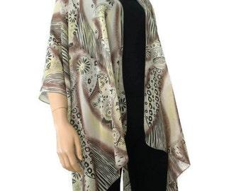 Boho Kimono/ Kimono cardigan-Earthy colors, timeless Ruana  summer collection-Layering piece