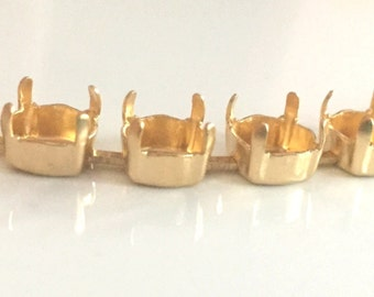 Bracelet - 8mm Matte Gold Empty Cup Chain