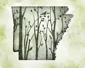 8 x 10 Arkansas State Wall Art, Arkansas Wall Decor, Arkansas State Print, Arkansas Art, Arkansas Wall Art  (415)