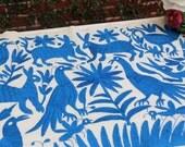 Turquoise blue  Otomi Runner