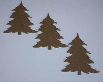 Chipboard Die Cut Christmas Trees Set