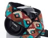 Southwest dSLR Camera Strap, Tribal, SLR, Mirrorless, Mens camera strap, Canon camera strap, Nikon camera strap, Native American Insp., 169