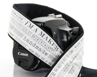 Camera Strap, I'm a Maker, I Make Stuff, dSLR, Pocket, SLR Camera Strap, Canon, Nikon, Camera Neck Strap, Photographer, 271