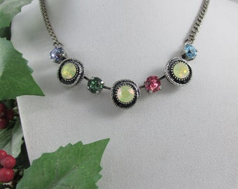 Yellows and Bright Colors Swarovski Necklace