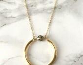 Jasper Circle Long Necklace