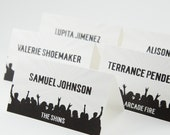 Rock Concert Place Card Wedding Decor Escort Seating Name Custom Personalize Music Festival Gig Venue Bands