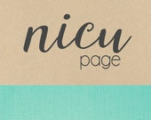 NICU page // baby book, baby gift, add on page, baby keepsake