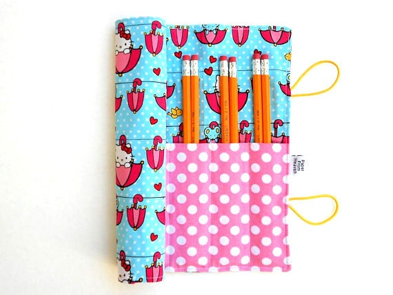 Pencil Case - Hello Kitty - colored pencil holder, art journaling, Bible Journaling, adult coloring supplies