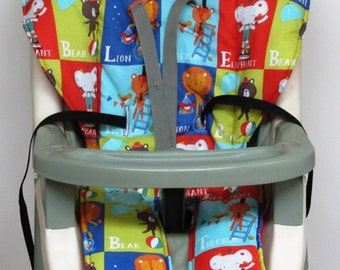 high chair pad,Graco cover baby accessory, replacement cover, nursery decor, high chair cushion, kids and baby, feeding chair, circus blocks