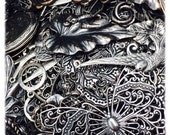 Closeout sale on Antique Silver Plated Pendants plus more needful items, Sampler, Big Mix, Components