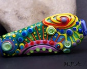 Bollywood - Unique, Lampwork Focal Bead - Glass Art by Michou P. Anderson