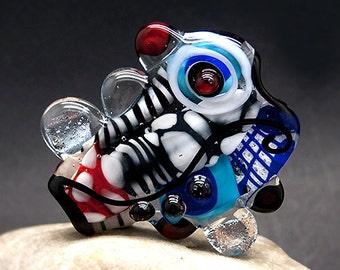 Glass Art - Lampwork Focal Bead - 53mm . Unique, Statement Designs by Michou P. Anderson