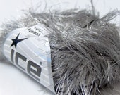 LONG EYELASH GRAY grey superbulky chunky 50gr polyester ice yarns usa fancy fur craft rug 1 skein ships from usa at usps cost 13021