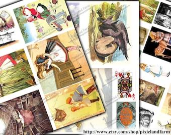 Alice in Wonderland Vintage Clip Art Printable Digital Download