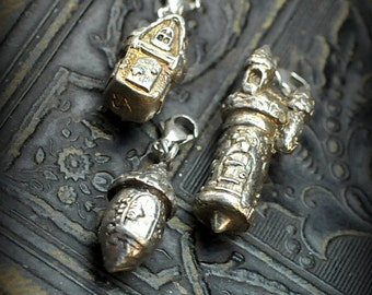Fairy House Charms set of three