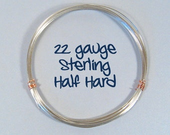 22ga HH Sterling Silver Wire - Choose Your Length
